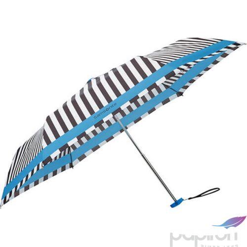 Samsonite esernyő Manual PATTERN / 3 sect. Manual FLAT csíkos 108946/7194 - Black-White, fekete-fehér