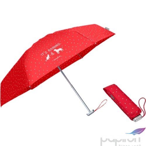 Samsonite esernyő Manuális Alu Pattern 23x94,5 0,18kg Manual 5sec paradicsom piros - pöttyös, 45509/6212