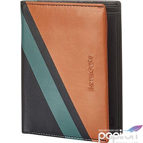Samsonite pénztárca férfi Success 2 Slg 109 - W S 4Cc+Hfl+2W+2C 124017/2687-Orange Stripes
