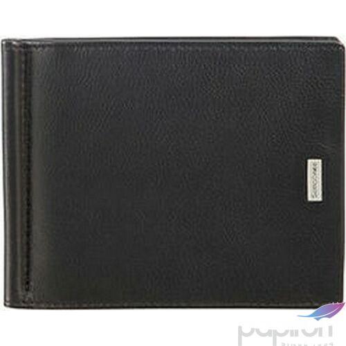 Samsonite pénztárca férfi NYX 3 SLG 8CC H+MONEY CLIP marhabőr 87973/1041 - Black Fekete