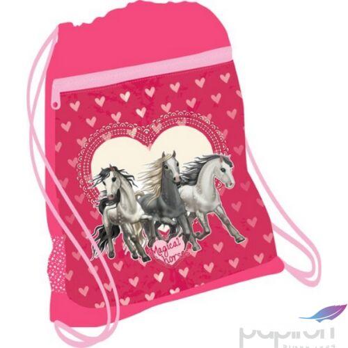 Tornazsák Belmil 20' Horse Love ló lovas 336-91 43x45cm hálós sportzsák Gym Bag