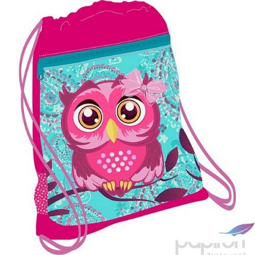 Tornazsák Belmil 20' Speedy Pinky Owl baglyos 336-91 43x45cm hálós sportzsák Gym Bag