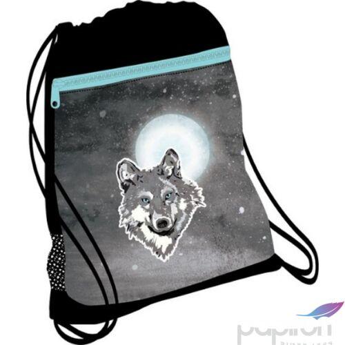 Tornazsák Belmil 21' Classy Wolf farkasos, 336-91 43x45cm hálós sportzsák Gym Bag