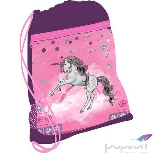 Tornazsák Belmil 21' Sporty Pinky Unicorn unikornisos 336-91 43x45cm hálós sportzsák Gym Bag