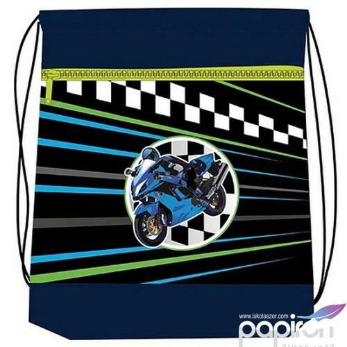 Tornazsák Belmil Superbike 2 motoros, motor mintás 336-91 43x45cm hálós sportzsák Gym Bag